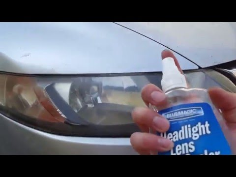 DIY: Fast headlight cleaning with melamine and headlight sealant
