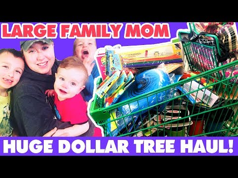 💰HUGE DOLLAR TREE HAUL | 🏡Homemaking, 📓Homeschool, ✂️Crafts! 🚐 Large Family Mom Style💗!
