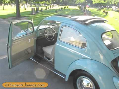 1962 VW Beetle for Sale with Ragtop Sunroof