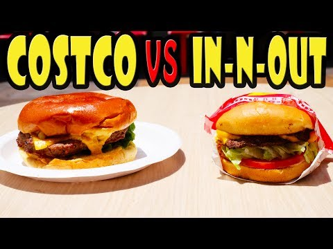 Costco Burger vs In-Out Burger