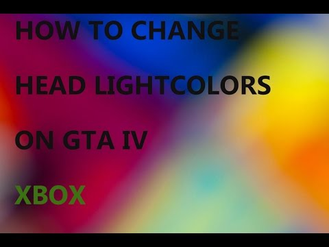 How To Change Cars  Headlight Colors On GTA IV