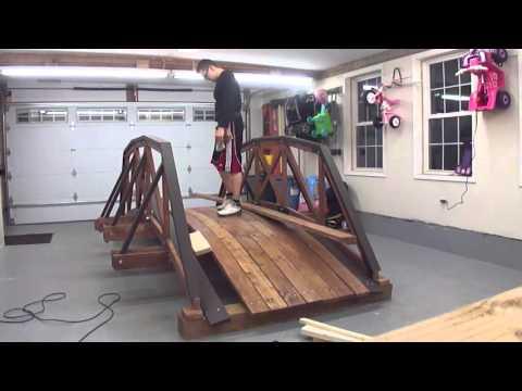 Design & Build Wood Truss Bridge - Backyard Decoration Time Laps