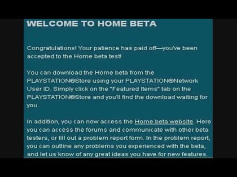 Home Beta emails and info