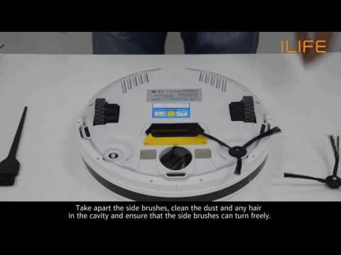 How to clean the side brush | ILIFE V5/s Robot Vacuum