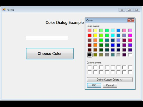 Color Dialog windows application in asp.net c#