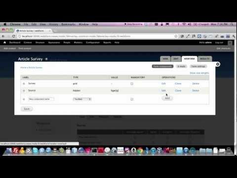 Webforms in Drupal 7