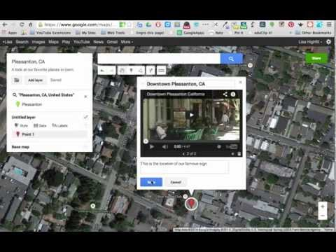 My Maps- Adding locations, images and videos to Google Maps