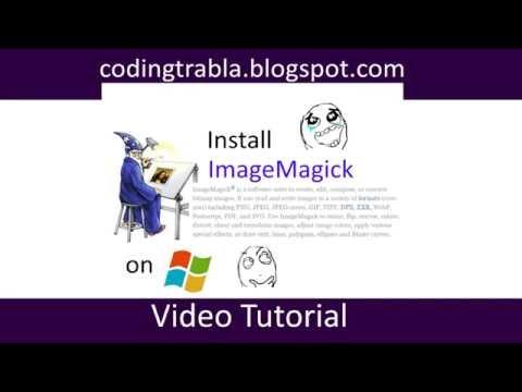 Install ImageMagick 7.0.2-5-Q16-x64  on Windows