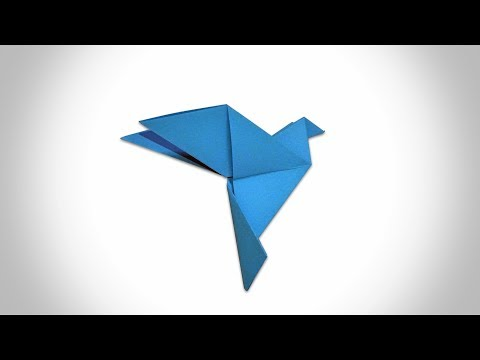 ORIGAMI DOVE - How to Make a Paper Dove