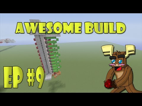Minecraft Xbox 360 - 1x1 Up/Down Piston Elevator (Awesome Build Ep. 9)