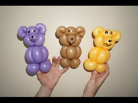 How to make teddy bear from balloon