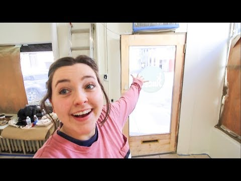 PAINTING DAY & EXPOSING OUR WOOD DOOR