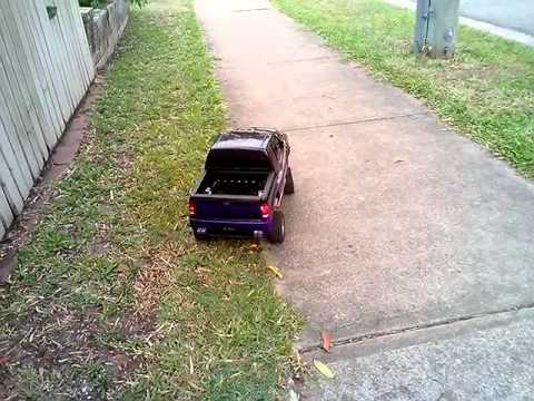 RC Losi Strike SCT brushless Lawn Trimmer - after the tray was modified to suit the car.