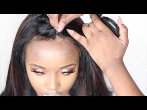 how to fit a lace frontal wig with natural hairline