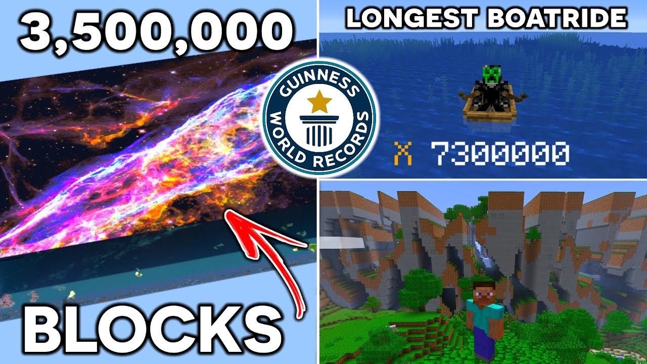 The Most INCREDIBLE Minecraft WORLD RECORDS...