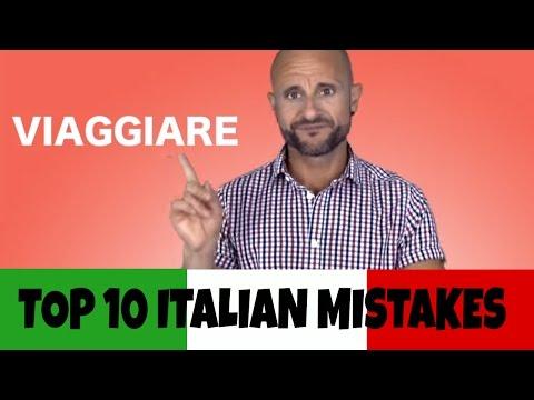 VIAGGIARE: Top 10 Italian Mistakes - Learn Italian Verbs and Improve Italian Grammar