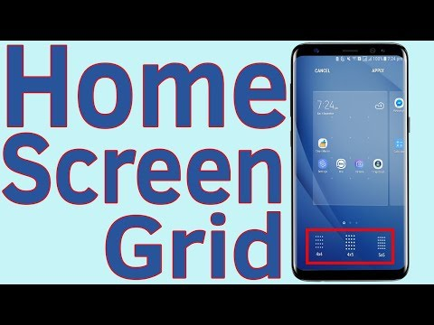 Samsung Galaxy J7/S7/S8/S9 Screen Grid : How To Change Home Screen Grid - Helping Mind