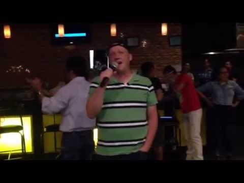 American Dude Singing At Mongolian Karaoke Party