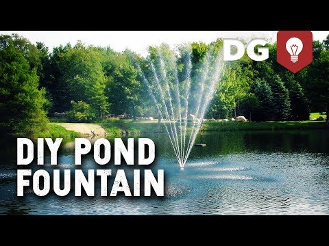 How To Turn a Sump Pump Into a Cheap DIY Pond Fountain