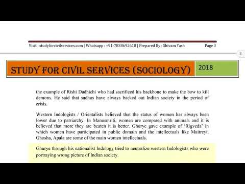 sociology optional for upsc ias pcs uppsc bpsc lecture 37   INDIAN THINKERS SOCIAL MOVEMENTS REFORMS