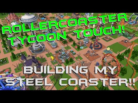 100+ Cards & Building My First Steel RollerCoaster | RollerCoaster Tycoon Touch iOS