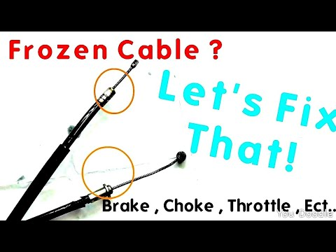 How to fix Frozen Throttle Cable  , Brake Cable , Choke Cable on ATV Motorcycle Dirt bike