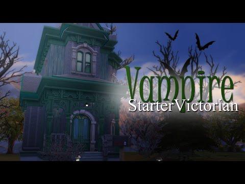 The Sims 4   Speed Build: Vampire Starter Victorian