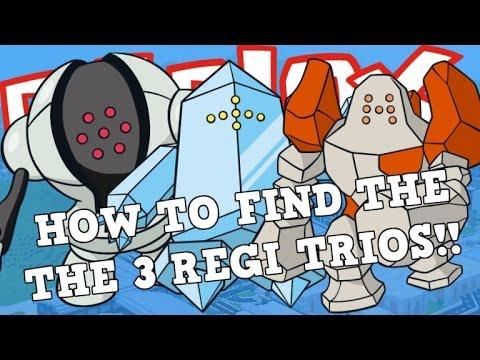 HOW TO FIND REGICE REGISTEEL AND REGIROCK!! | Roblox Pokemon Brick Bronze