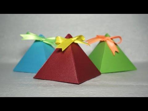 Easy Paper Pyramid box tutorial - DIY