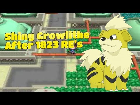 Live!!!! Shiny Growlithe On Pokemon White 2 After 1823 Random Encounters!!!!