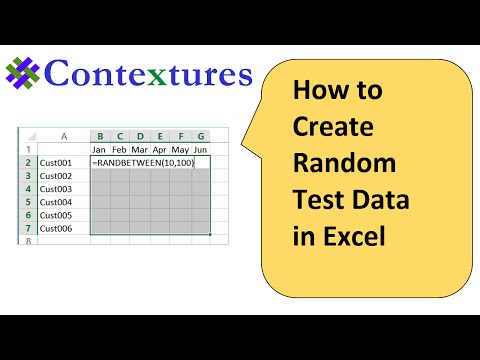 How to Create Random Test Data in Excel