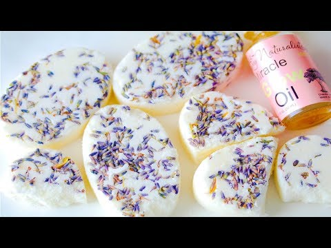 Lavender Butter Bath Truflles DIY! Making  Foaming Lavender Bath Truffles