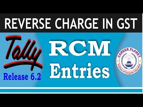 RCM Entries in Tally ERP 9 Part-65| Reverse charge Entries in Tally for GSTR-2