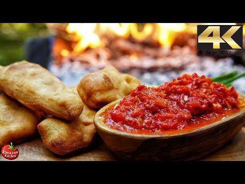 You NEVER saw this food before! - AJVAR Recipe + Crispy Langos Bread
