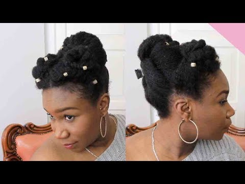 QUICK EASY UPDO ON NATURAL 4C HAIR | LAYEFA