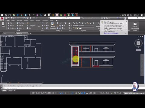 How to Making Elevation in AutoCAD | House Elevation | House modeling in Autocad | Lesson 68