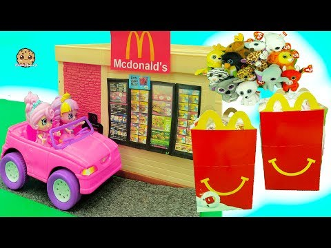 Shoppies Order Happy Meals In McDonalds Drive Thru - Beanie Boo's Toys