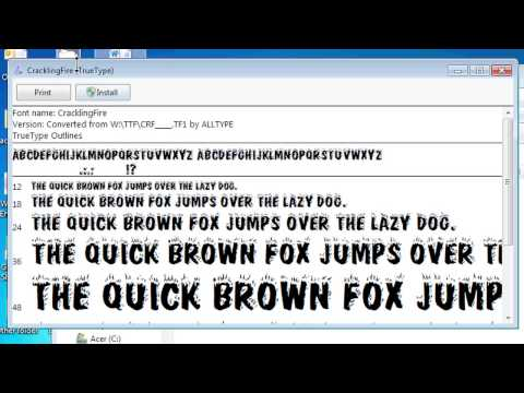 How to Install a Type 1 Font File for Microsoft Word : Office Software Help