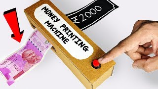 How to make Money PRINTING Machine from Cardboard DIY at Home