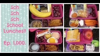 Super Week of School Lunches!  Wonderful, Exciting, Thrilling... + What She Ate.