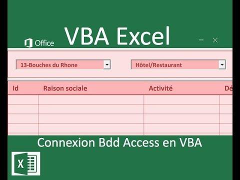 Connecter une base Access à Excel par le code VBA