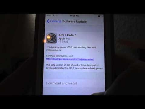How to Get IOS 7 Beta 6 for Free on iPhone 4-5, iPod 5, iPad 2-4. Install, Update, and Review