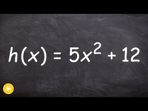 How to find the inverse of a quadratic that is a function