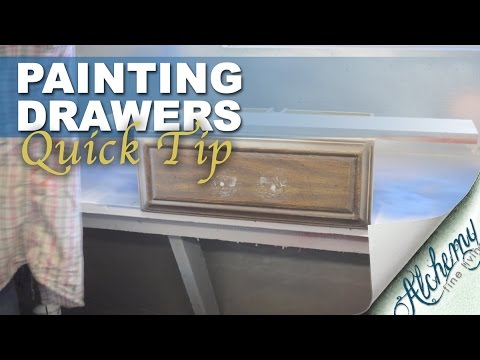 Furniture painting. Quick tip for painting drawers.
