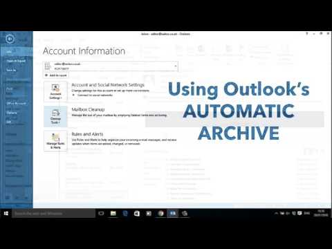 📧Outlook 2013 Email Archiving🤓