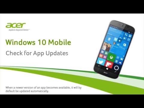 Windows 10 mobile - Check for App Updates
