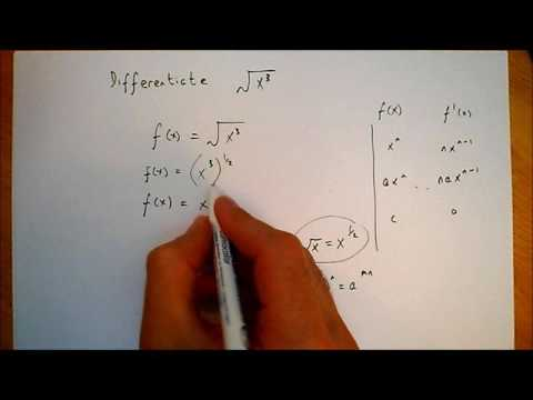 Differentiating root x^3
