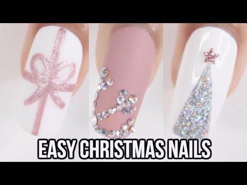4 EASY CHRISTMAS NAIL IDEAS