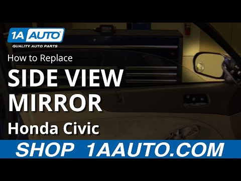 How To Install Replace Side Rear View Mirror 2001-05 Honda Civic 2 Door