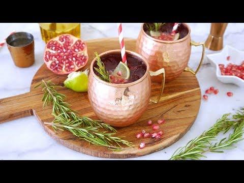 Pomegranate Moscow Mule Recipe | BirdsPartyTricks